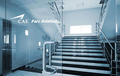 Interior of CAE Parc Aviation's offices in Dublin, Ireland