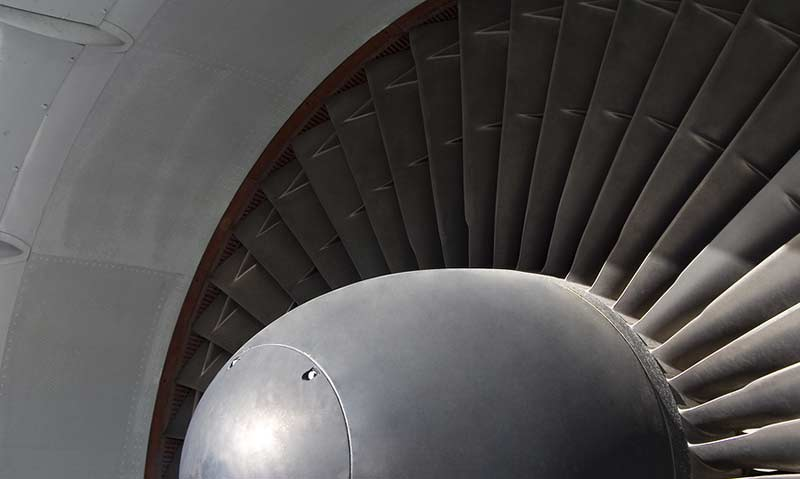 B747 jet engine