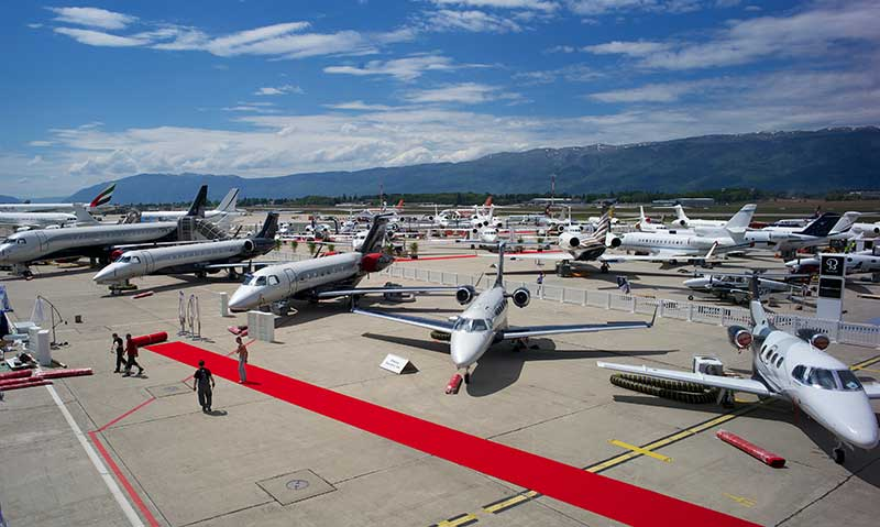 EBACE 2014 at Geneva Airport