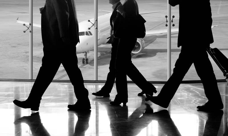 Pilots at terminal at Japan's Hereda Airport